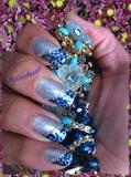 blue leopard print