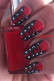 sexy red black corset