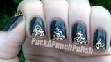 Fierce Leopard Print Triangle Tape Mani