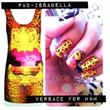 versace for h&m nails art