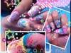 paddle pop rainbow nails arts