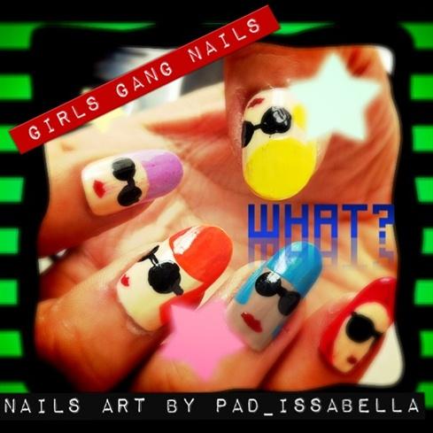 girls gang nails art