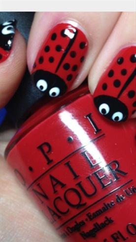 Lady Bug Nails 🐞🐞🐞🐞🐞🐞🐞🐞