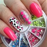 Pink Leopard & Studs