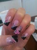 Black white & pink