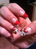 Valentine nails <3