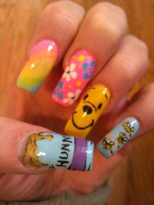 My Pooh nails!