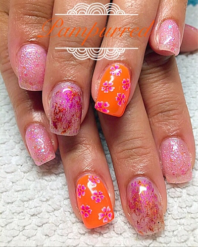 Pink And Orange Gel