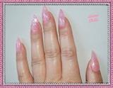 Barbie pink stiletto gel nails