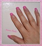 Lollipop pink nails