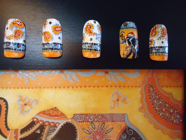 ´´Indian Elephant´´ Nail art