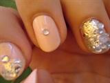 Matte Pink Gems & Glitter Nail Art