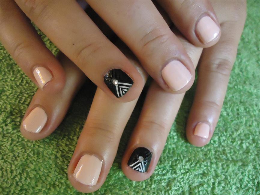 Very short nails design - Nail Art Gallery