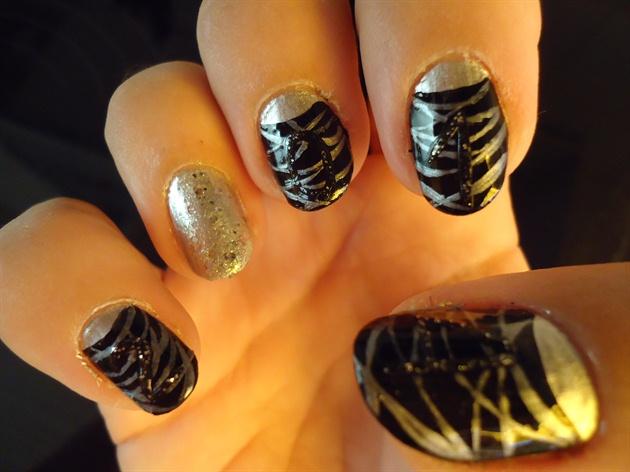 Happy New Year 2014 Nail Art