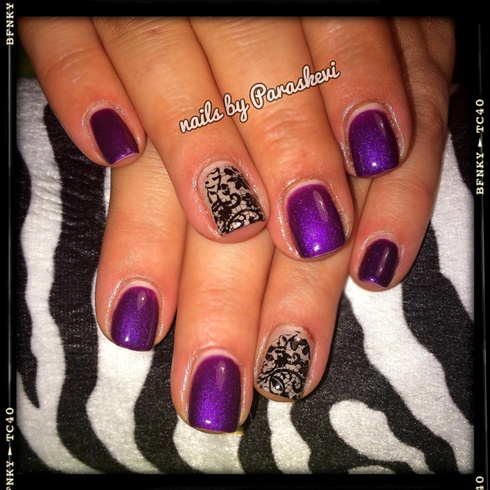 Purple And Black Lace