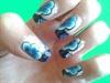 one stroke nails design