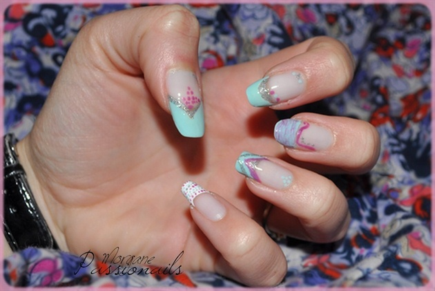 Crazy French Manicure ! (Blue)