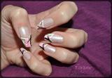 Colored nail art