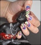 Flashy nail art