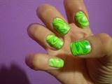 Green #marblenails