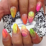 neon summer nails