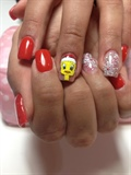 Tweety bird nails