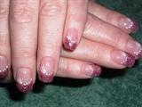 pink acrylic sparkles