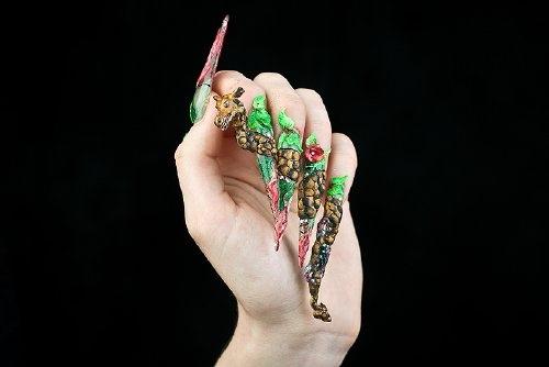 Dragon Or Giraffe Nail Art Gallery