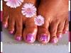 lilac pedicure