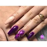 Classy purple Nails