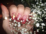 Sparkle red tips with a touch of zebra