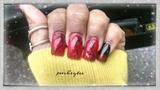 Black n red nail art