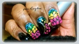rainbow mosaic nail art