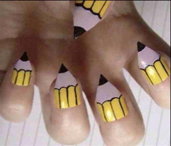 Pencil Nails Btw Not My Nails Nail Art Gallery