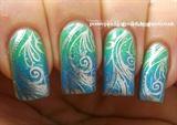 Stamped sparkly gradient