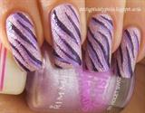 Freehand zebra stripes over texture