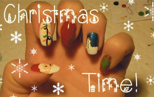 Christmas Nail Art Tutorial Video