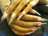 glitter stilettos w hand paint