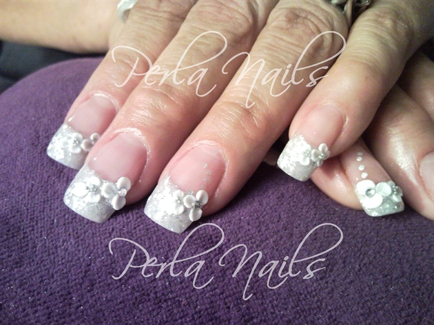 Wedding french with 3d nail art gallery wedding french with 3d prinsesfo Choice Image