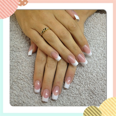 French with nail bed extension