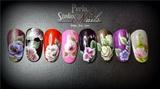 Mini designs one stroke nail art
