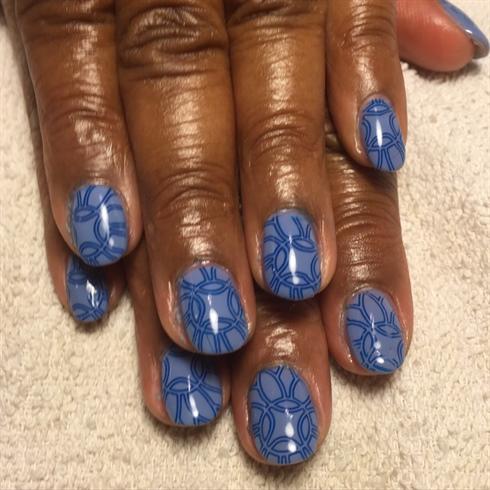 Blue Gel manicure