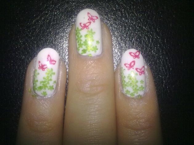 Close up nail art