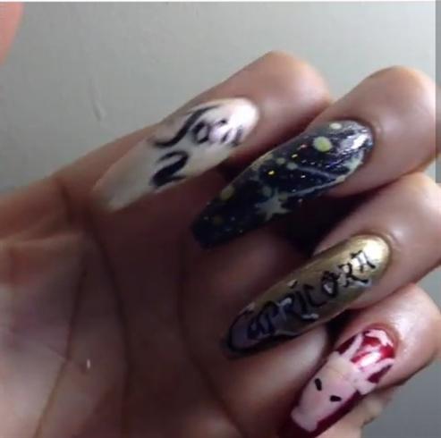 Capricorn Zodiac Nails