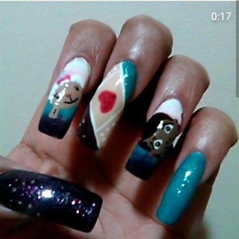 Doc McStuffins Nails