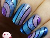 Wavy holo nail art