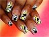 bold circle nail art