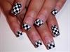 Checker French Nail Art
