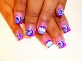 purple obama nails