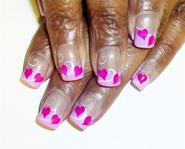 pink hears n swirls